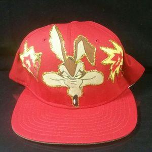 Vtg New Era Looney Tunes Wil E Coyote Snapback Cap